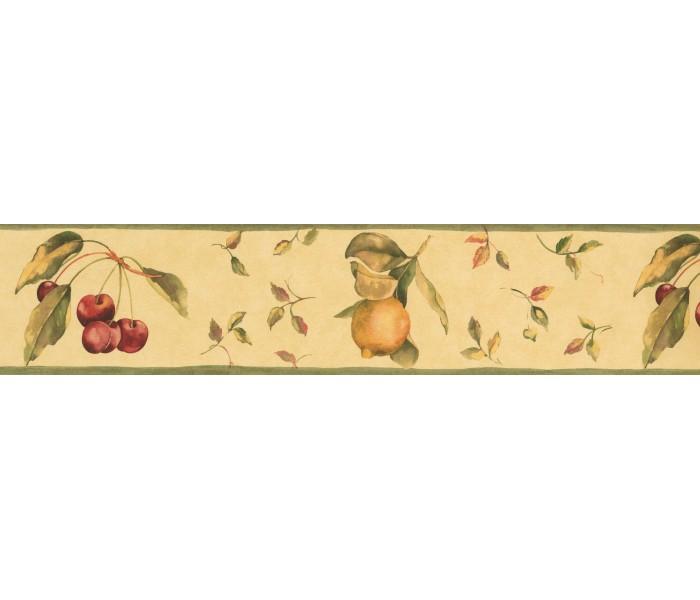 Garden Wallpaper Borders: Paper Background Red Berries Fallen Wallpaper Border