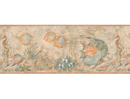 Prepasted Wallpaper Borders - Blue Angel Fish Wall Paper Border