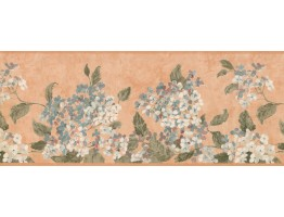 Prepasted Wallpaper Borders - Blue White Tiny Flowers Wall Paper Border