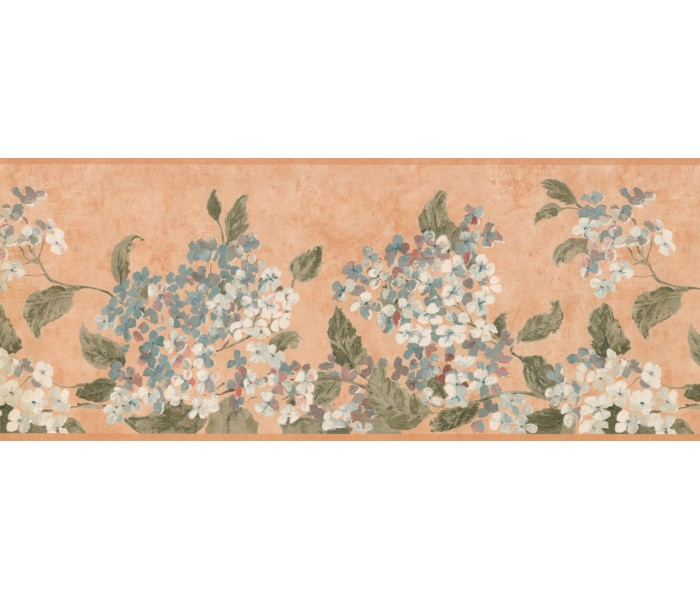 Floral Wallpaper Borders: Blue White Tiny Flowers Wallpaper Border