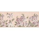 Floral Borders Pink White Tiny Flowers Wallpaper Border York Wallcoverings