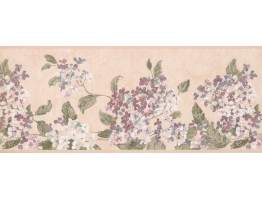 Pink White Tiny Flowers Wallpaper Border