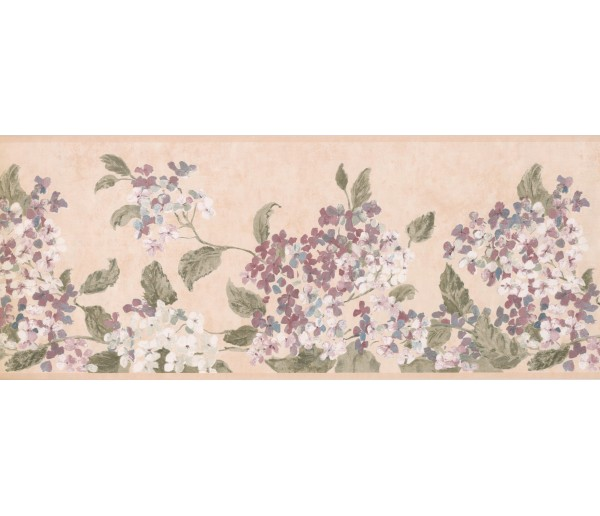 Floral Borders Pink White Tiny Flowers Wallpaper Border