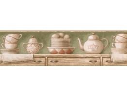 Prepasted Wallpaper Borders - Kitchen Wall Paper Border LA036212