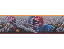 Prepasted Wallpaper Borders - Lacrosse Wall Paper Border