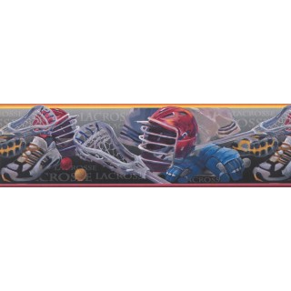 7 in x 15 ft Prepasted Wallpaper Borders - Lacrosse Wall Paper Border