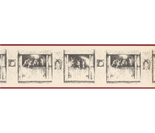 Horses Wallpaper Borders: Horses Wallpaper Border LCW18536