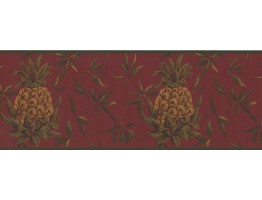 Yellow Pinapple Wallpaper Border