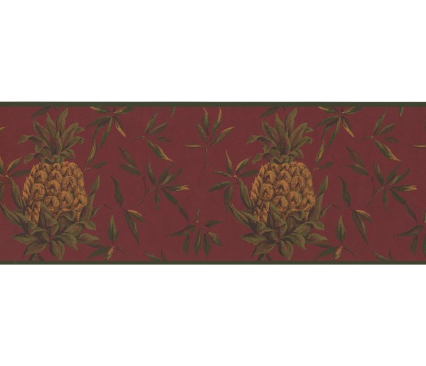 Garden Wallpaper Borders: Yellow Pinapple Wallpaper Border