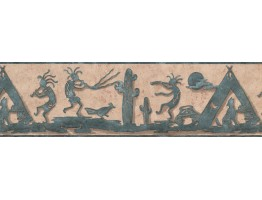 Prepasted Wallpaper Borders - Wild Humans Dancing Wall Paper Border