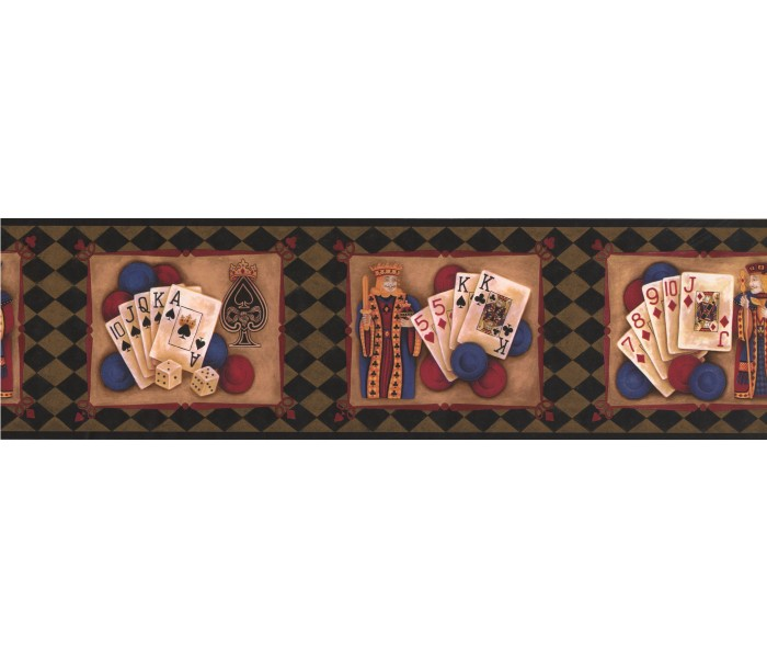 City Wallpaper Borders: Green Casino Cards Wallpaper Border
