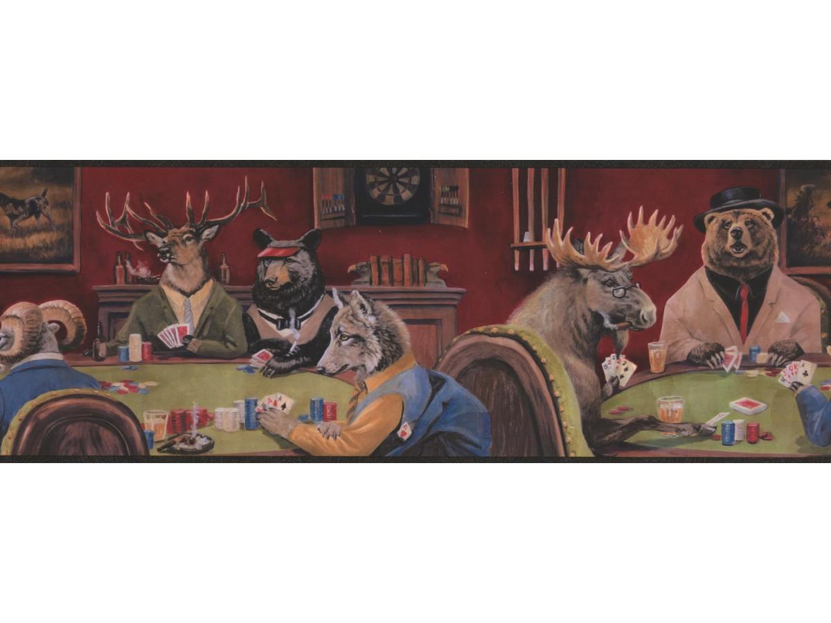 Goat Deer Casino Wallpaper Border