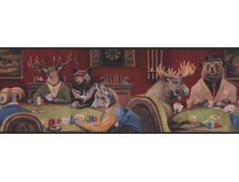 Prepasted Wallpaper Borders - Goat Deer Casino Wall Paper Border