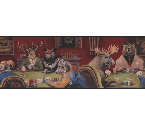 Deer Moose Wallpaper Borders: Goat Deer Casino Wallpaper Border