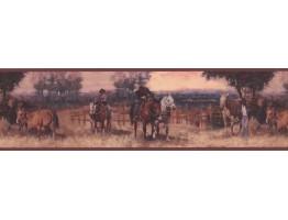 Horses Wallpaper Border LM8963