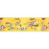 Clearance: Funny Rabit Baseball Wallpaper Border