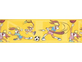 Funny Rabit Baseball Wallpaper Border