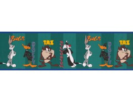 7 in x 15 ft Prepasted Wallpaper Borders - Cartoon Characters Wall Paper Border