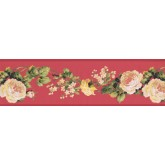 Clearance: White Rose Floral Wallpaper Border