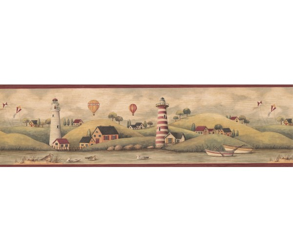 Lighthouse Wallpaper Borders: Outdoor Wallpaper Border MCB5303