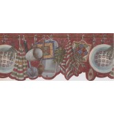 Prepasted Wallpaper Borders - White kitchen utensils Wall Paper Border
