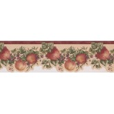 Garden Wallpaper Borders: Bordo Cream Apple Raspberry Branches Wallpaper Border