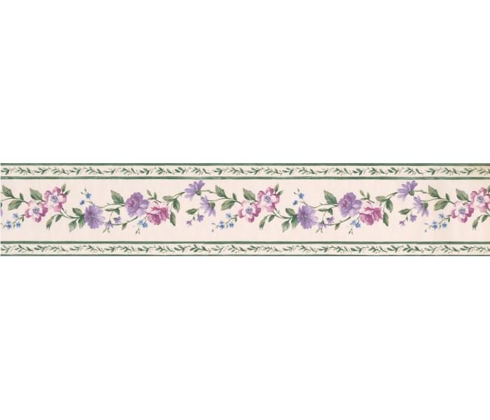 Floral Wallpaper Borders: Grey Bottled Olive Oils Wallpaper Border