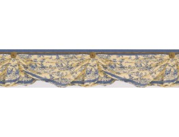 Blue Yellow Inn Drop Wallpaper Border