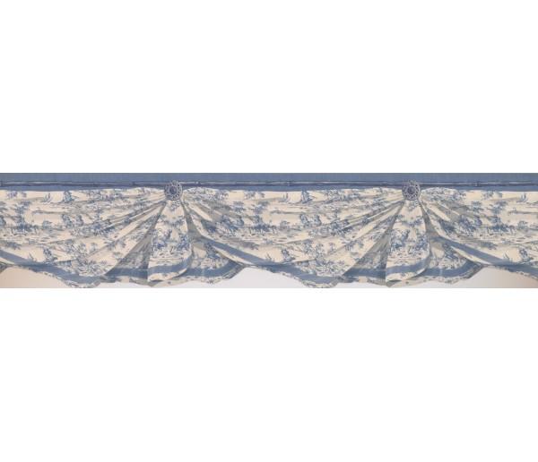 Laundry Borders Blue White Inn Drop Wallpaper Border York Wallcoverings