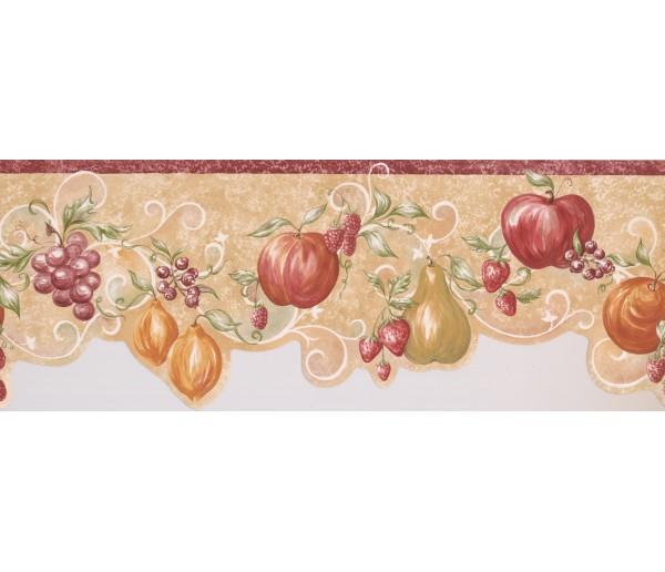 Garden Wallpaper Borders: Orange Apple Grape Wallpaper Border