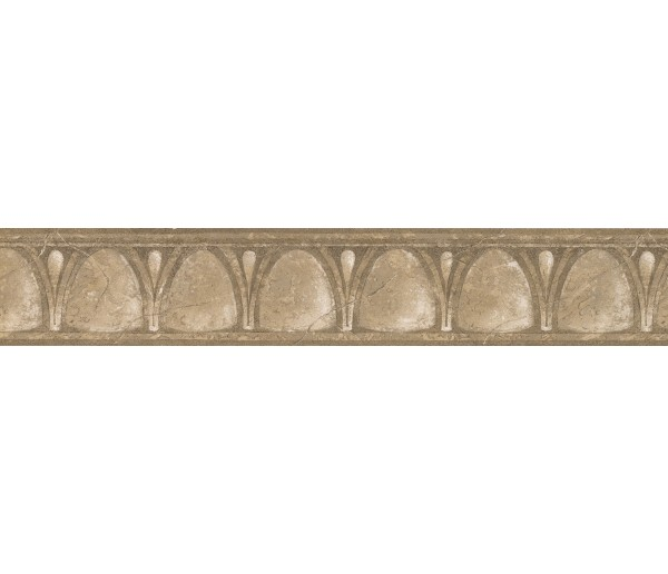 Vintage Wallpaper Borders: Brown White Glass Vintage Wallpaper Border