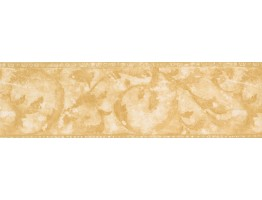 Yellow Floral Shaded Wallpaper Border