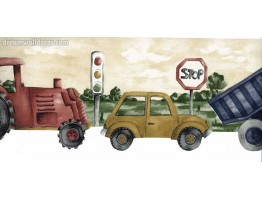 Prepasted Wallpaper Borders - Road Truck Car Wall Paper Border