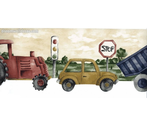 Clearance: Road Truck Car Wallpaper Border