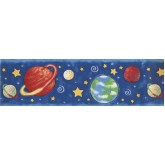 Sun Moon Stars Wall Borders: Earth Universe Planets Wallpaper Border