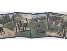 Golf Tips Books Wallpaper Border
