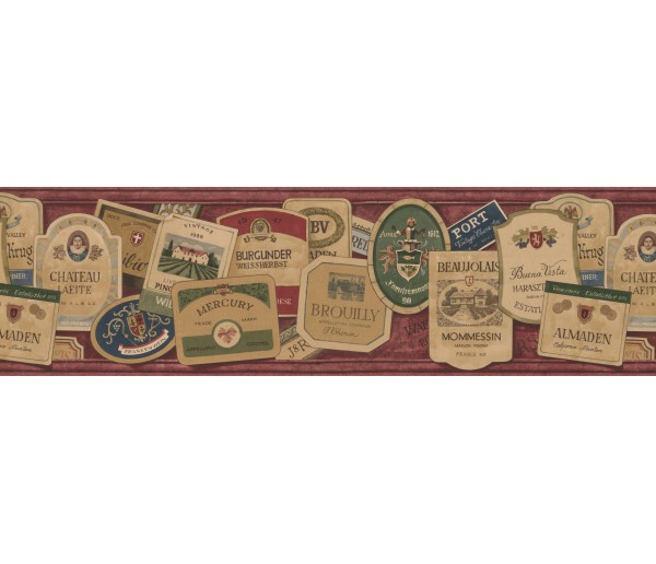 Novelty Wallpaper Borders: Red Stone Signs Wallpaper Border