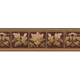 Novelty Wallpaper Borders: White Green Leaf Photo Frame Wallpaper Border