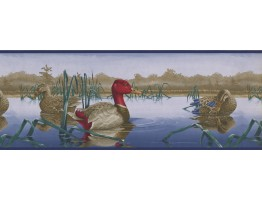 Prepasted Wallpaper Borders - Red Duck Wall Paper Border