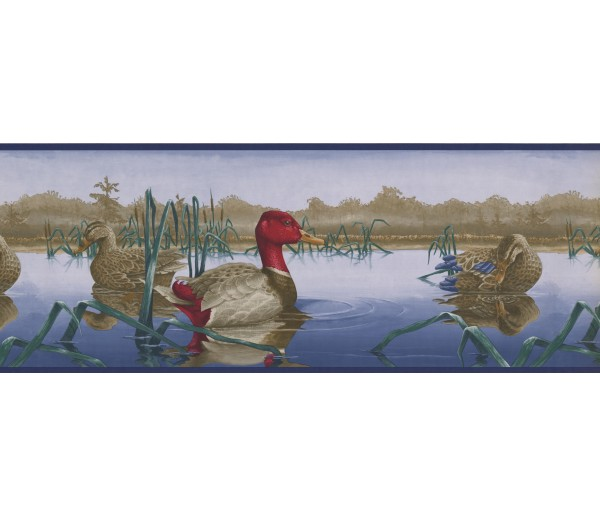 Country Wallpaper Borders: Red Duck Wallpaper Border
