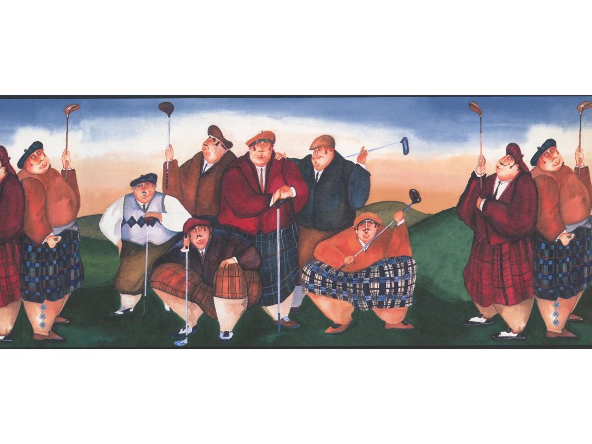 Golf Borders Golf wallpaper Border NV9404 York Wallcoverings