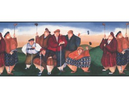 Prepasted Wallpaper Borders - Golf Wall Paper Border NV9404