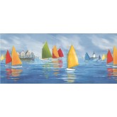 Prepasted Wallpaper Borders - Mariners Landing Poster Wall Paper Border
