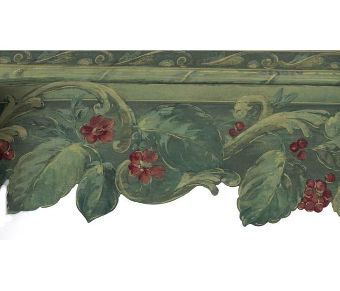 Garden Wallpaper Borders: Green Grapes Plant Wallpaper Border