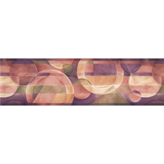 7 in x 15 ft Prepasted Wallpaper Borders - Violet White Plate Designs Wall Paper Border