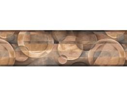Brown White Plate Designs Wallpaper Border