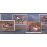 Birds  Wallpaper Borders: Flying Wood Ducks Wallpaper Border