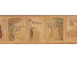9 in x 15 ft Prepasted Wallpaper Borders - Golf Wall Paper Border PA5632