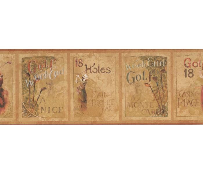 Golf Wallpaper Borders: Golf Wallpaper Border PA5632