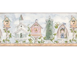 Prepasted Wallpaper Borders - House Heart Chruch Wall Paper Border